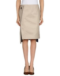 Atto Knee Length Skirts Beige