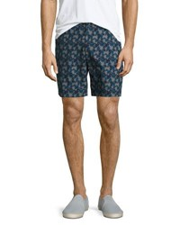 Original Penguin Nine Camo Leaf Print Shorts Dark Blue
