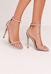 Missguided Rounded Strap Barely There Mushroom Grey