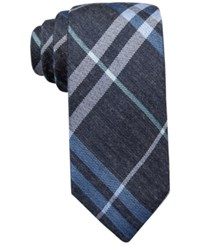 Ryan Seacrest Distinction Gower Plaid Slim Tie Only At Macy's Blue