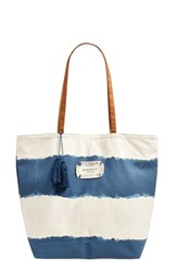 Women's Seafolly 'Indian Summer' Canvas Tote Blue Denim