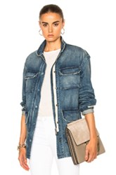 Nili Lotan Lori Military Jacket In Blue