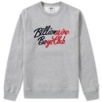 Billionaire Boys Club Script Embroidered Crew Neck Grey