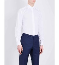 Corneliani Slim Fit Cotton Shirt White