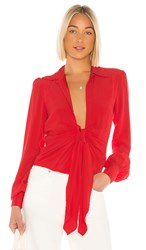 Lovers Friends Oliver Top In Red.