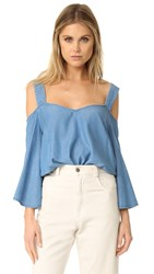 Rebecca Minkoff Catriona Top Light Blue Denim