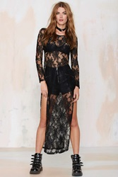 Nasty Gal Fall In Lace Maxi Top
