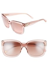 Juicy Couture Women's Shades Of 55Mm Square Sunglasses Pink Crystal