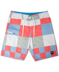 Rusty Gbah Checked 20' Board Shorts Cornflower