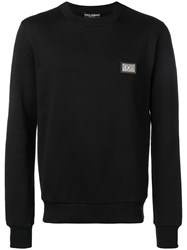 Dolce And Gabbana Logo Plaque Jumper Black