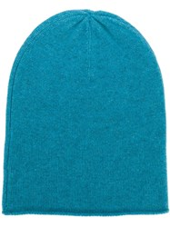 Allude Fine Knit Beanie Blue