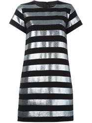 Marc By Marc Jacobs Striped T Shirt Dress Black
