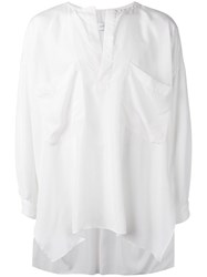 Faith Connexion Oversized Collarless Shirt White