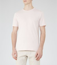 Reiss Bless Mens Crew Neck T Shirt In Pink
