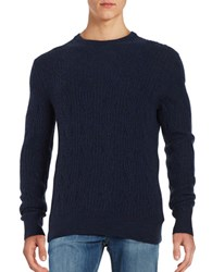 Black Brown Cable Knit Cashmere Sweater Winter Navy