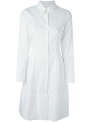 Alberto Biani Flared Back Shirt Dress White