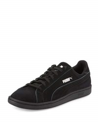 Puma Smash Nubuck Low Top Sneaker Black Whisper White
