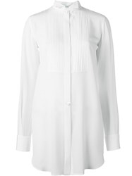 Givenchy Pleated Bib Shirt White