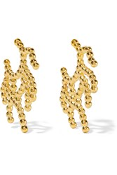 Arme De L'amour Coral Gold Plated Earrings
