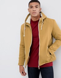Brave Soul Hooded Jacket With Toggles Tan