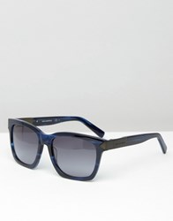 Karl Lagerfeld Square Sunglasses Blue Marble Blue