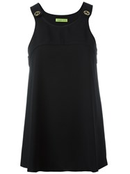 Versace Jeans Flared Tank Top Black