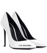 Off White For Walking Leather Pumps White