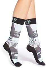 Stance 'Most Wanted' Graphic Crew Socks Mint