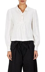 Etoile Isabel Marant Women's Daloa Embroidered Cotton Peasant Top Nude