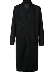 Black Fist Single Breasted Coat Black