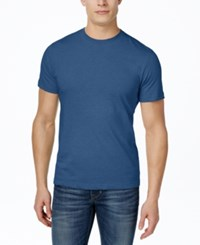 Alfani Men's Crew T Shirt Blue Multi Heather