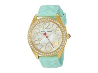 Betsey Johnson Bj00048 171 Mint Silicone Strap Gold Watches