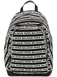 Balmain Small Urban Backpack White