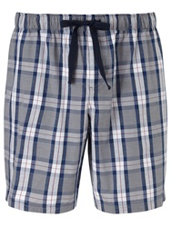 John Lewis Alli Check Lounge Shorts Grey Blue