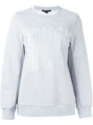 Alexander Wang Welded Barcode Sweatshirt Grey