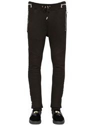 Balmain Cotton Jogging Pants With Velvet Piping