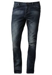Pier One Slim Fit Jeans Mid Wash Blue Denim