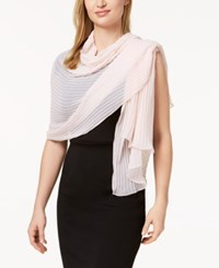Betsey Johnson Solid Georgette Pleated Evening Wrap Blush