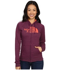 The North Face Half Dome Full Zip Hoodie Pamplona Purple Heather Radiant Orange Women's Fleece Pink