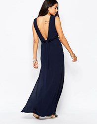 Goldie Over Exposed Maxi Dress Navy