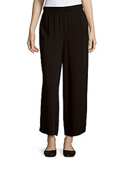 Kensie Solid Elasticized Pants Black