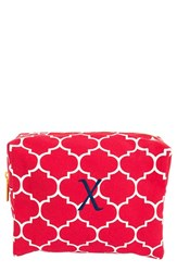 Cathy's Concepts Monogram Cosmetics Case Coral X