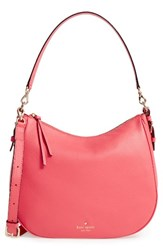 Kate Spade New York Cobble Hill Mylie Leather Hobo Pink Warm Guava