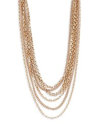 Design Lab Lord And Taylor Mixed Chainlink Nested Necklace Gold