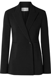 The Row Ciel Wool Blend Crepe Blazer Black