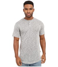Publish Amadeo Mock Twist Knit Short Sleeve Henley Grey Men's Clothing Gray