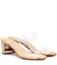 Christian Louboutin Almost Nothing 55 Pvc Sandals Gold
