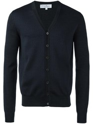 Salvatore Ferragamo Gancini Pattern Knit Cardigan Grey