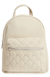 Omg Quilted Faux Leather Backpack