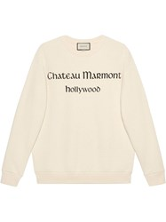 Gucci Oversize Sweatshirt With Chateau Marmont White